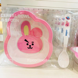 BT21 Official Cereal Bowl 500ml + Spoon 17cm Set