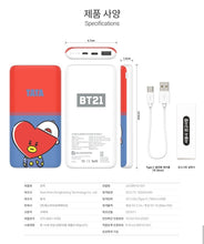 Load image into Gallery viewer, BT21 Official Wireless Power Bank 10000mAh (Free Express Shipping)