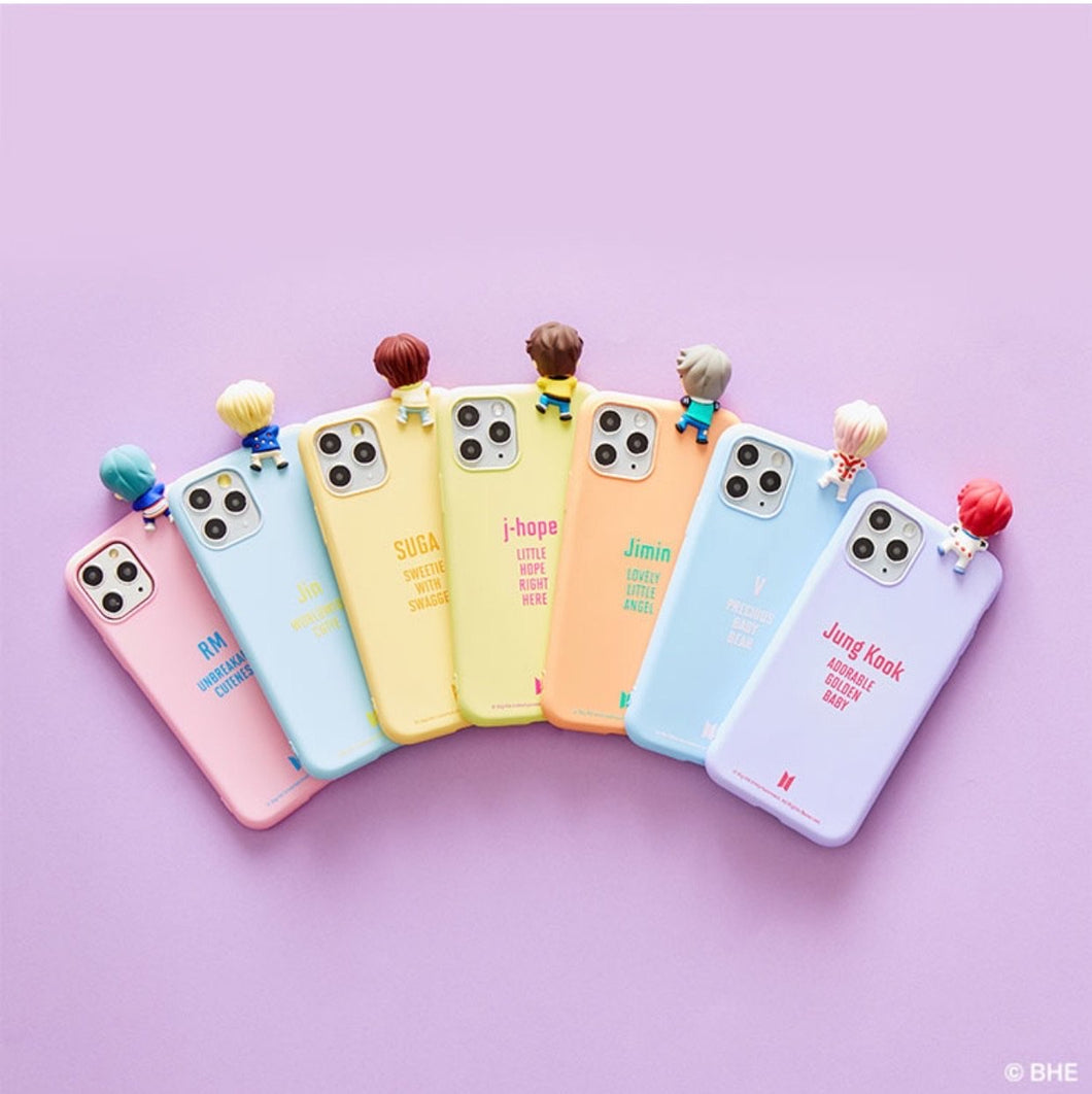 BTS Official CHARACTER Figure Color Jelly Case Nickname Version (for iPhone and Samsung)