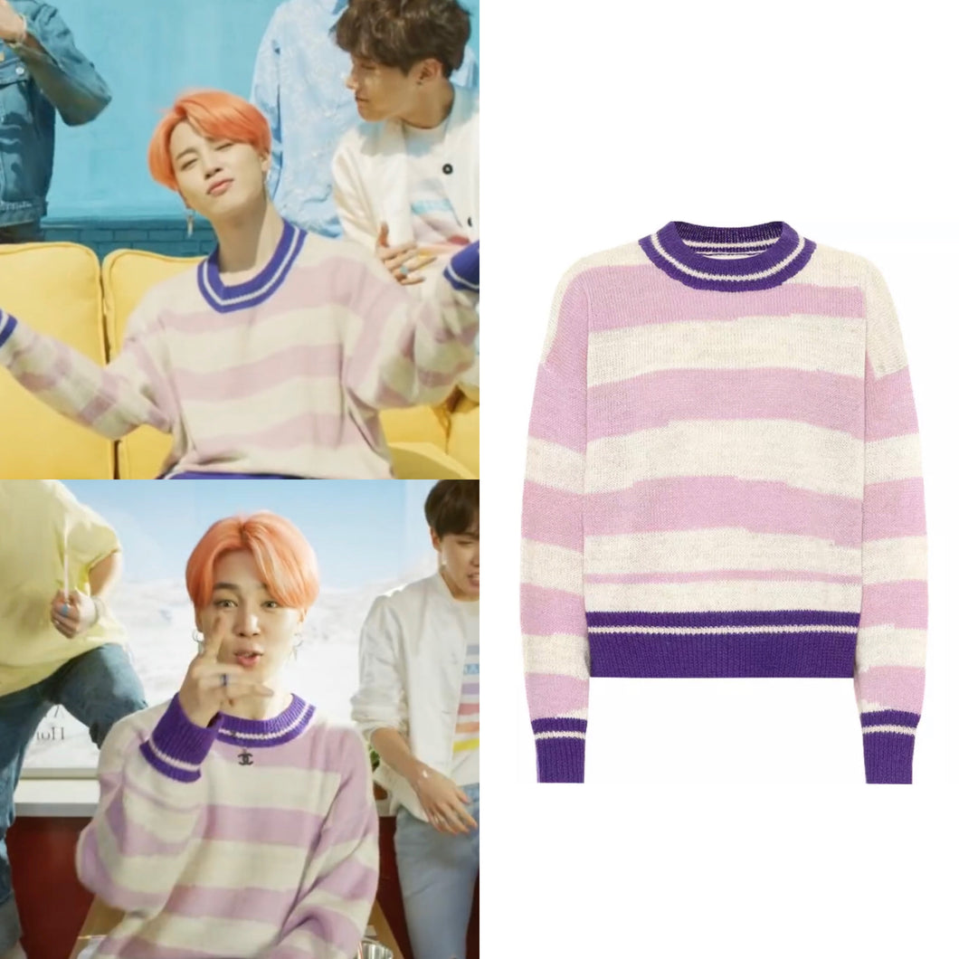 "BTS Jimin ""Boy with Luv"" Style Pullover"