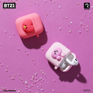 BT21 Official Silicone Charging Airpods Case