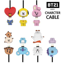 Load image into Gallery viewer, BT21 Official Character Cable 5pin or 8pin or Type-C