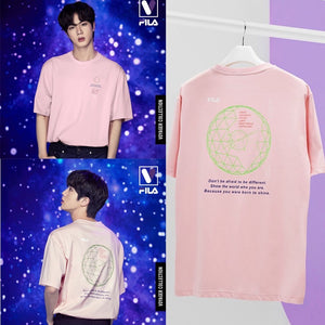 FILA X BTS - Loose-fit Graphic Short Sleeve Tee