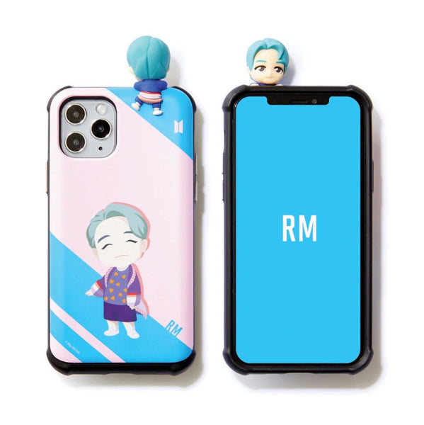 BTS Official CHARACTER Figure Slide Bumper Case Edge Line Version (for iPhone and Samsung)