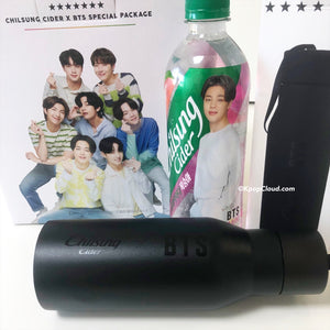BTS x Chilsung Cider - Special Package 5 Bottles + Stainless Steel Tumbler