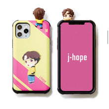 Load image into Gallery viewer, BTS Official CHARACTER Figure Slide Bumper Case Edge Line Version (for iPhone and Samsung)