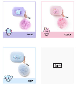 BT21 Official Airpods Pro Case BT21 Baby POM-POM
