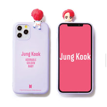 Load image into Gallery viewer, BTS Official CHARACTER Figure Color Jelly Case Nickname Version (for iPhone and Samsung)