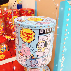 BT21 Official Chupa Chups Classic 100u Tin 1100g