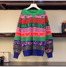 "Load image into Gallery viewer, BTS J-Hope Style ""Colorful"" Sweater"