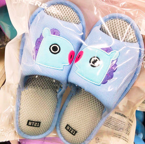 [BT21] Official Mesh Slippers Free Size