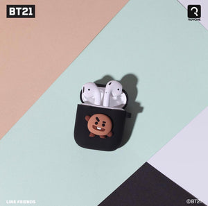 [BT21] Black Edition Silicone Charging Case For Apple Airpod (Free Shipping)