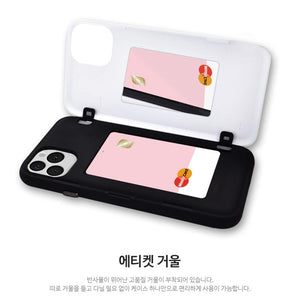 BTS OFFICIAL IDOL OPEN Card Case + Mirror (for iPhone)