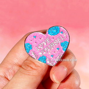BTS ''LOVE YOURSELF'' Glitter Enamel Pin