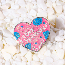 Load image into Gallery viewer, BTS ''LOVE YOURSELF'' Glitter Enamel Pin