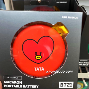 BT21 Official Macaron Portable Battery 6200mh (EXPRESS SHIPPING)