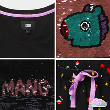 Load image into Gallery viewer, [BT21] Spangle Pajama Set (Reversible Sequin)