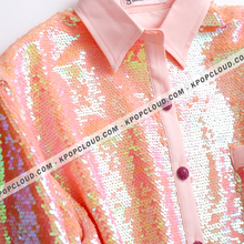 Load image into Gallery viewer, BTS STYLE - Jin Pink Sequined Shirt