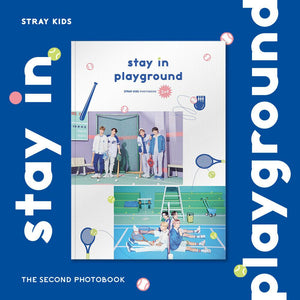 STRAY KIDS - 2nd PHOTOBOOK: stay in playground (Free Express Shipping)