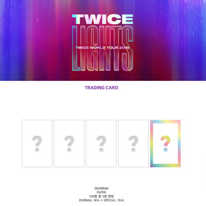 TWICE 2019 WORLD TOUR OFFICIAL TRADINGCARDS PHOTO SET