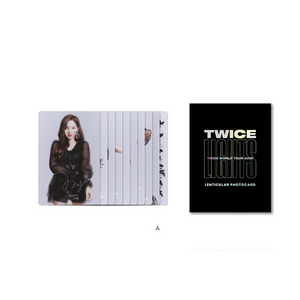 TWICE 2019 WORLD TOUR OFFICIAL LENTICULAR PHOTO CARD
