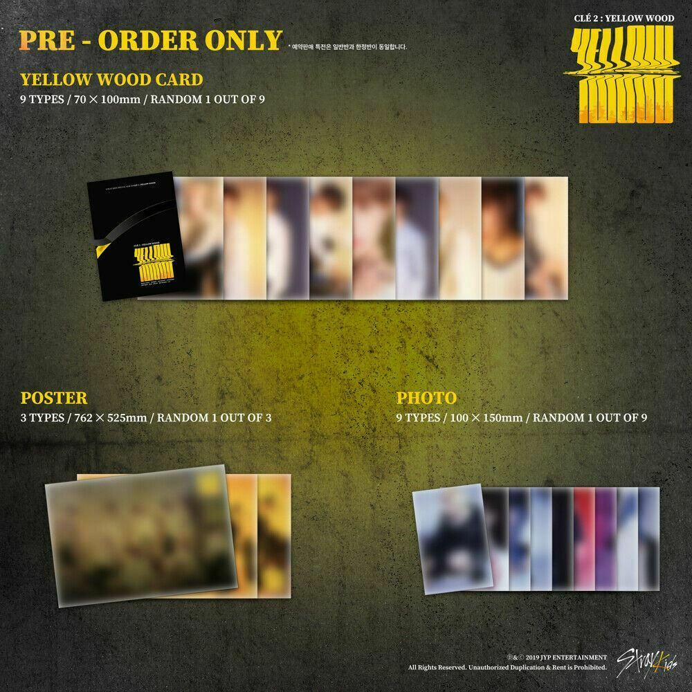 STRAY KIDS - Clé 2 : Yellow Wood (You Can Choose Ver + Free Shipping)