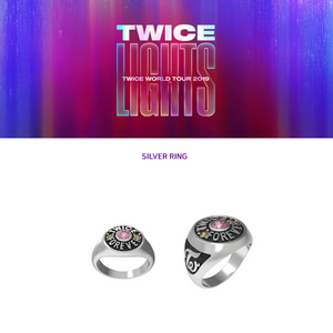 TWICE 2019 WORLD TOUR OFFICIAL SILVER RING