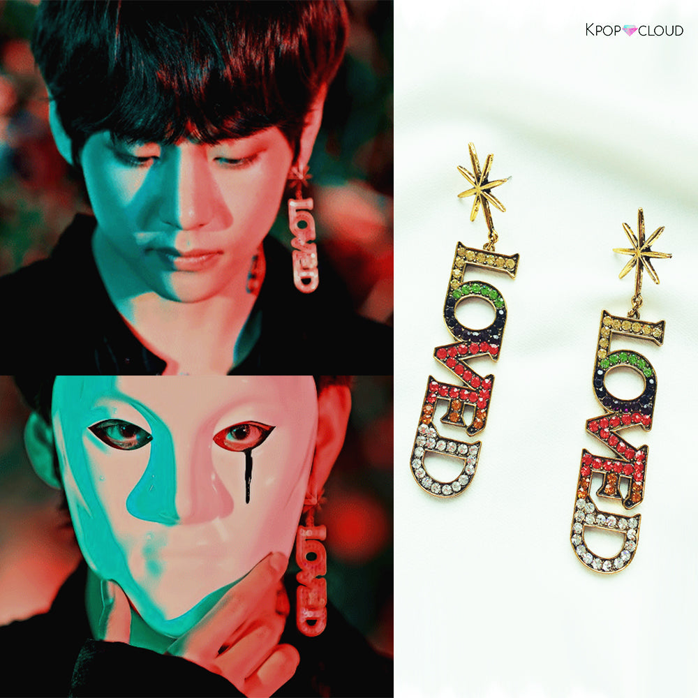 [BTS] Taehyung ''Love'' Earrings (Pair)