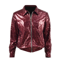 Load image into Gallery viewer, [BTS] Jungkook ''Fake Love'' Red Sequin Jacket