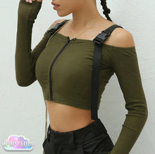 Load image into Gallery viewer, [ASIAN FASHION] Korean Style Crop Top