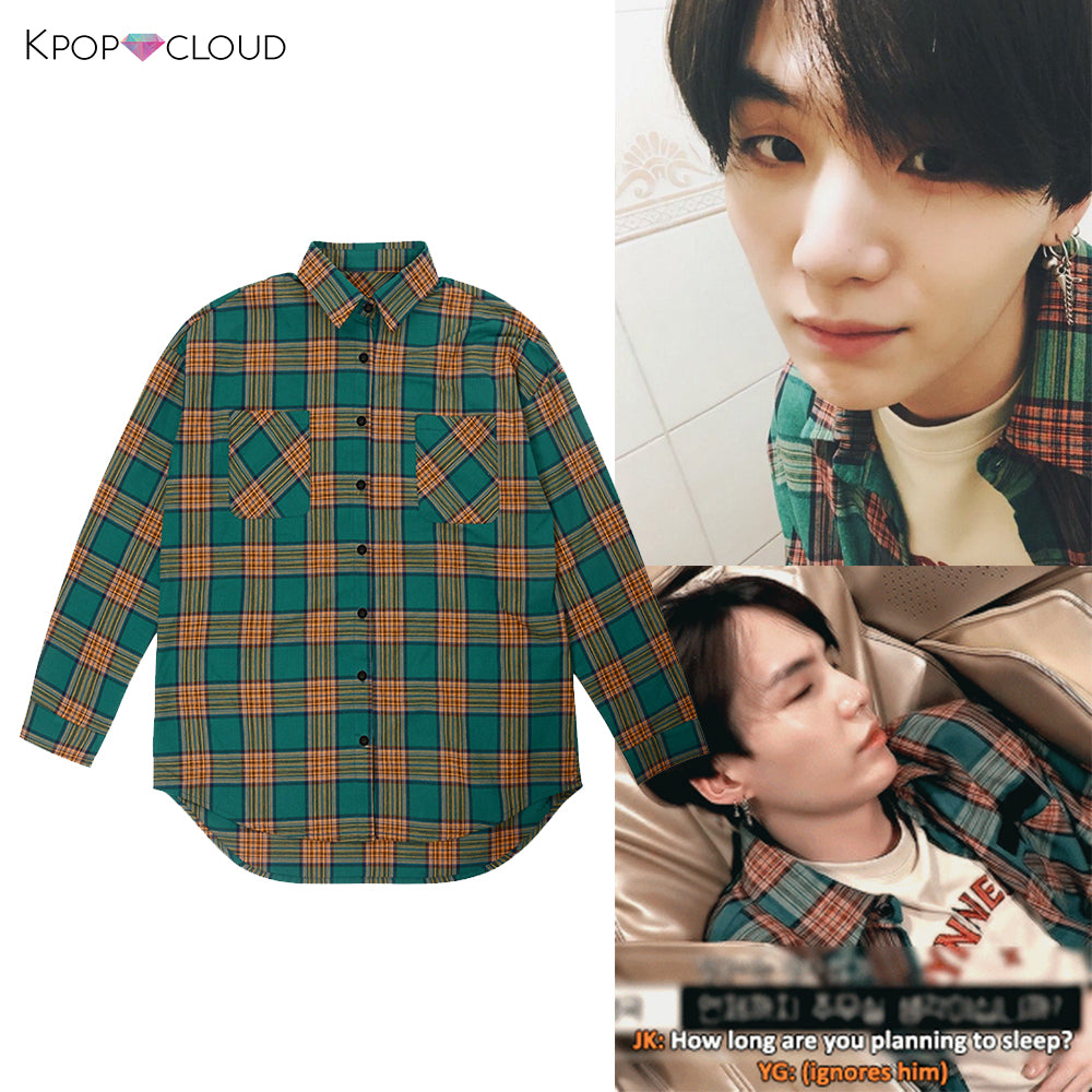 [BTS] Suga Plaid Shirt