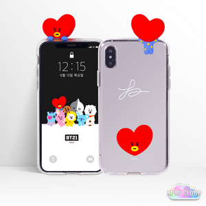 BT21 Official Bbakkom Mirror Phone Case