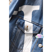 Load image into Gallery viewer, BTS Taehyung ''Boy with Luv'' Denim Jacket