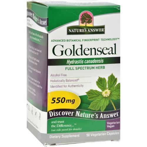 Nature's Answer Goldenseal Root - 50 Vegetarian Capsules