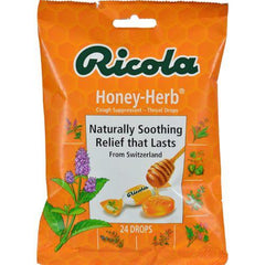 Ricola Herb Throat Drops Honey Herb - 24 Drops - Case of 12