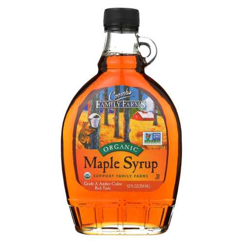 Coombs Family Farms Organic Maple Syrup - Case of 12 - 12 Fl oz.