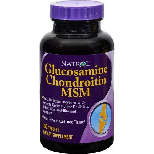 Natrol Glucosamine Chondroitin and MSM - 150 Tablets