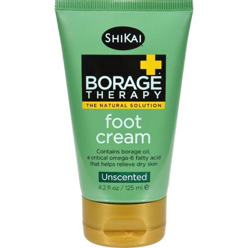 Shikai Borage Therapy Foot Cream Unscented - 4.2 fl oz