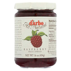 D'Arbo All Natural Fruit Spread - Raspberry - Case of 6 - 16 oz.