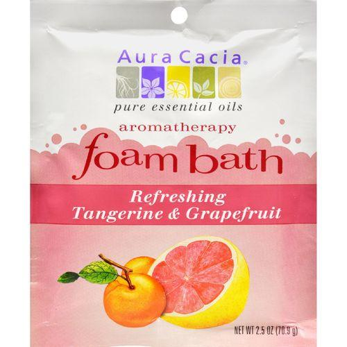Aura Cacia Foam Bath Refeshing Tangerine and Grapefruit - 2.5 oz - Case of 6