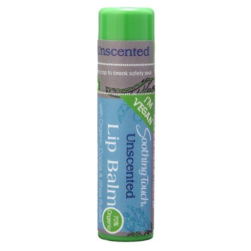 Soothing Touch Lip Balm - Vegan Unscented - Case of 12 - .25 oz