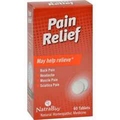 NatraBio Pain Relief - 60 Tablets