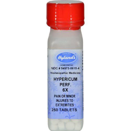 Hylands Homeopathic Hypericum Perf 6X - 250 Tablets
