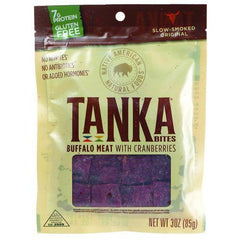 Tanka Bar Bites - Buffalo with Cranberry - 3 oz - Case of 6