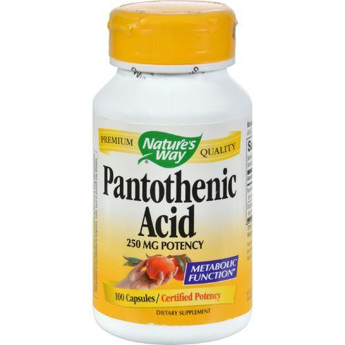 Nature's Way Pantothenic Acid - 250 mg - 100 Capsules