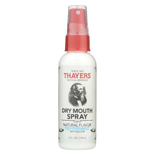 Thayers Dry Mouth Spray - Natural Peppermint Flavor - 4 fl oz