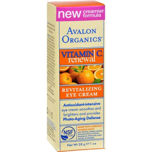 Avalon Organics Revitalizing Eye Cream Vitamin C - 1 fl oz