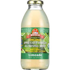 Bragg Apple Cider Vinegar Drink - Organic - Limeade - 16 oz - case of 12