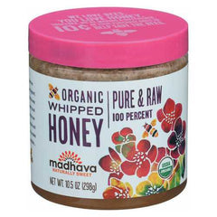 Madhava Honey Sweeteners Organic Whipped Honey - Case of 6 - 10.5 oz.