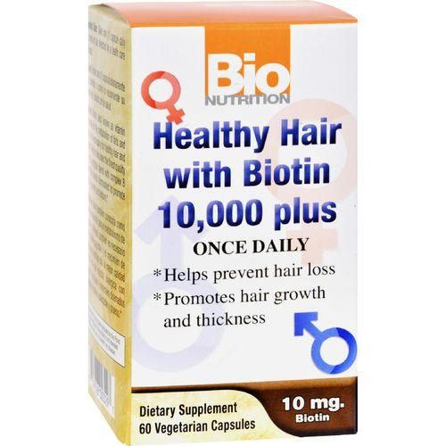 Bio Nutrition Healthy Hair with Biotin - 60 Ct